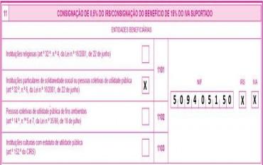 Consignação IRS 2017 a favor da Construção do Lar S.Francisco de Assis em Gondomar S. Cosme