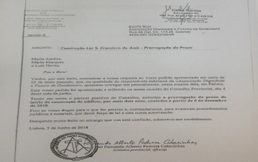 Prorrogação do Prazo de Início da Construção do Lar S. Francisco de Assis